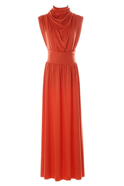 Ruched Sunset Maxi Dress
