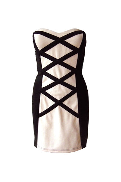 Monochrome Bandage Dress