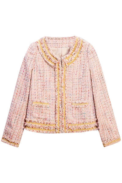 Strawberry Milkshake Boucle Jacket