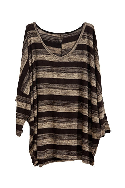 Stripy Slouch Jumper