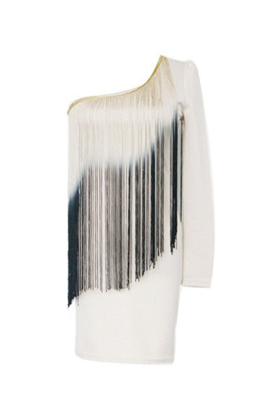 Dip-Dye Fringe Dress