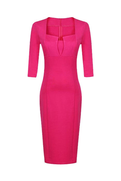 Tailored Fuchsia Dress