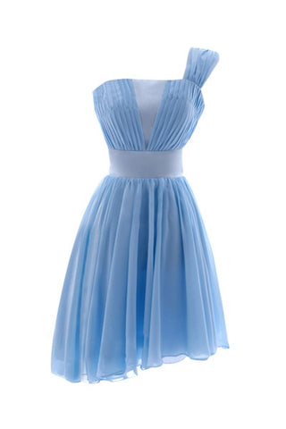 Baby Blue Ruched Dress