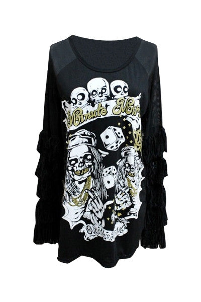 Skeleton Dice Top
