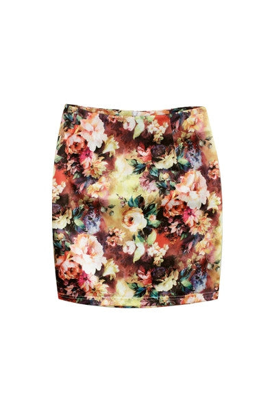 Sunlit Garden Mini Skirt