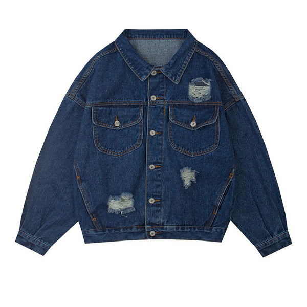 Distressed Retro Denim Jacket