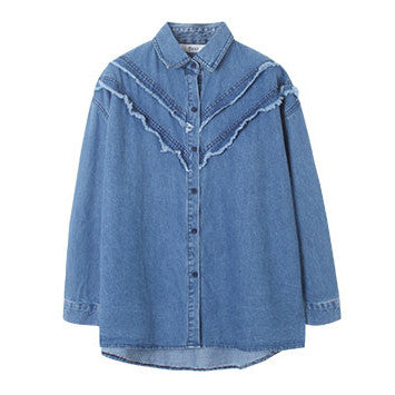 Frayed Cowgirl Style Shirt