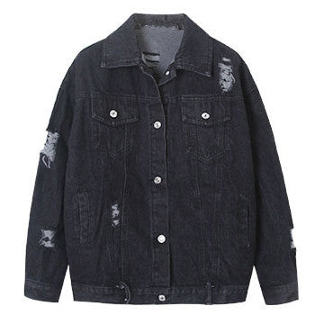 Black Retro Denim Jacket
