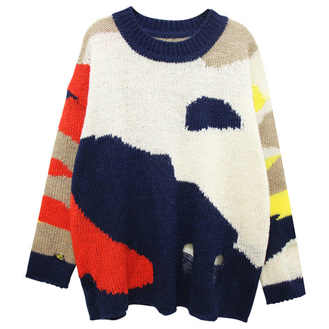 Oversized Vintage Effect Sweater