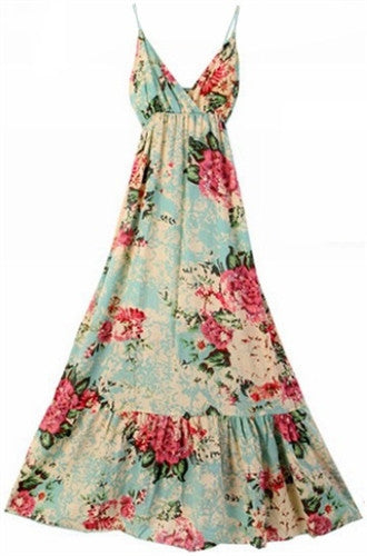 Hot House Flower Maxi Dress