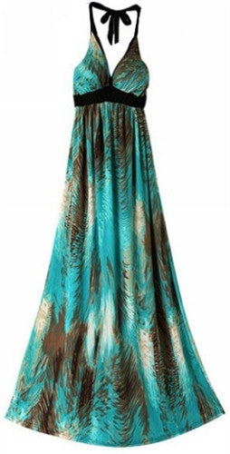 Paint Stroke Maxi Dress