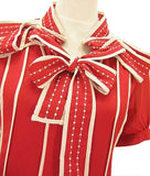 Red Ribbon Blouse