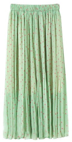 Dotty Pleat Skirt