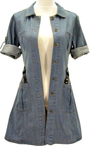 Waisted Denim Shirt Dress
