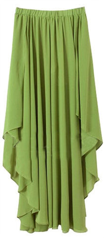 Asymmetric Pleat Skirt
