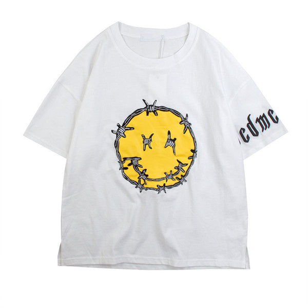 Barbed Wire Smiley Face T-Shirt