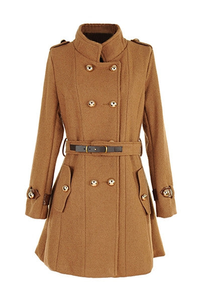 Gold Button Military Coat