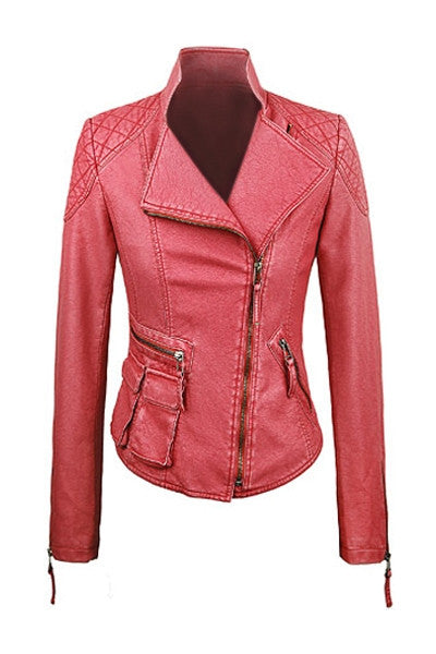 Sherbet Leather Biker Jacket