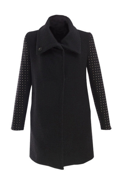 Studded Sleeve Coat