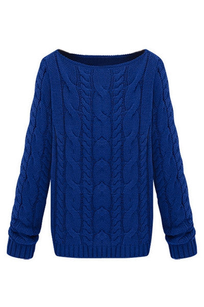 Electric Blue Knitted Sweater