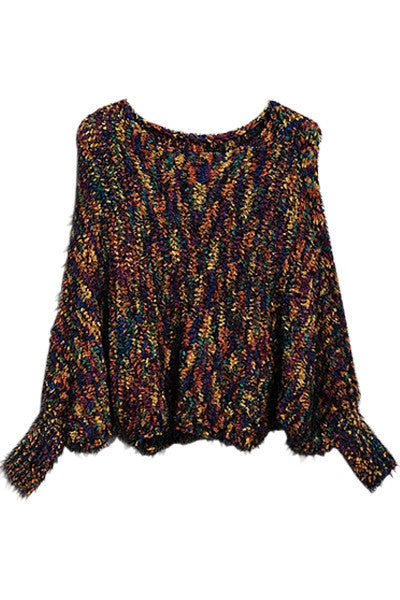 Multi-colored Dolman Sweater