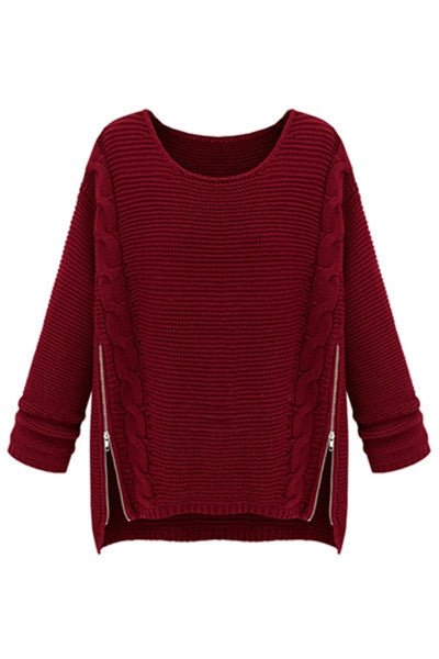 Mulberry Zipper Sweater