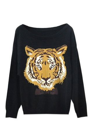 Bow Tie Tiger Sweater