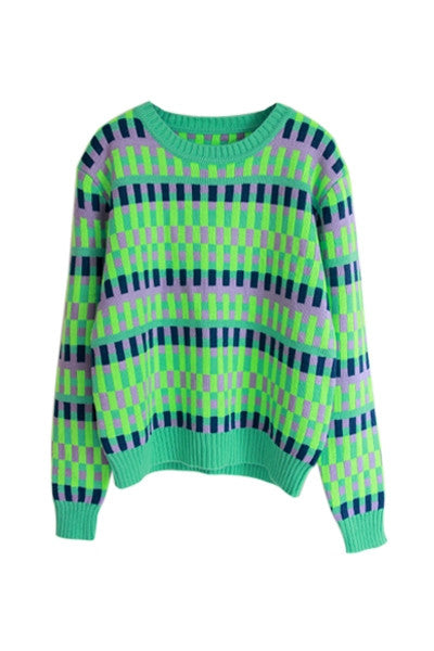 Neon blocks Sweater