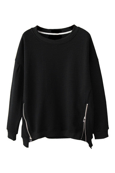Zipper Detail Sweatshirt