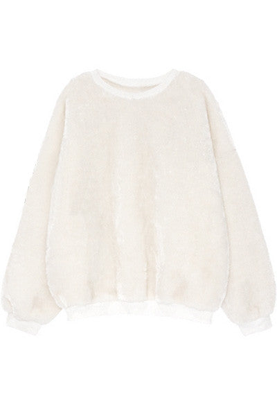 Snowball Velour Top