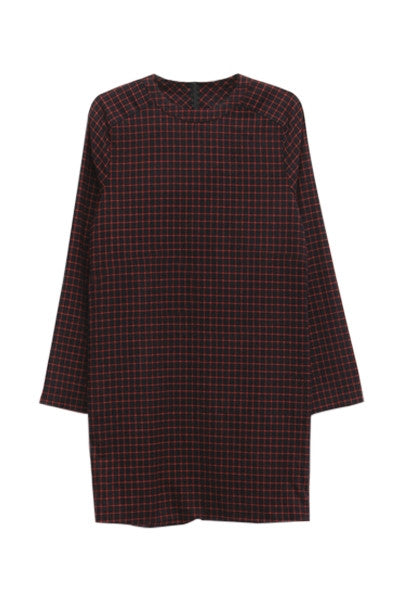 Checkerboard Shift Dress
