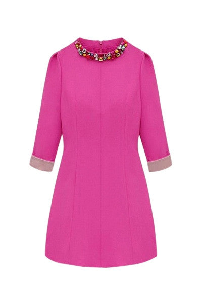 Fuchsia Jewelled Dress