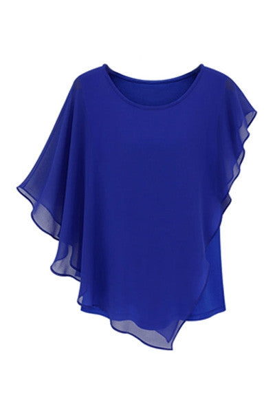 Asymmetrical Chiffon Top
