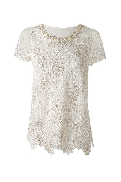 Lace Flowers Top