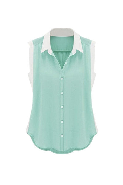 Two Tone Sleeveless Top
