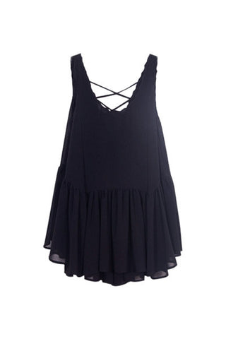 Black Babydoll Playsuit