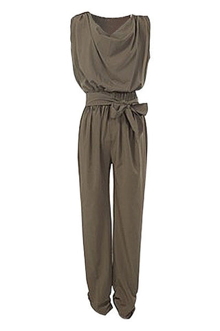 Chocolate Bow Jumpsuit