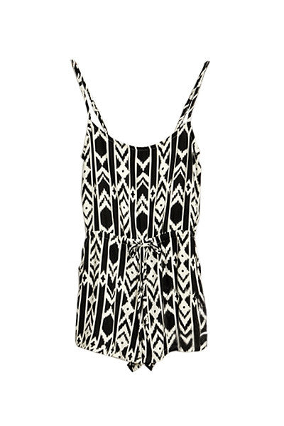 Monochrome Tribal playsuit
