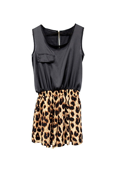 Silky Leopard Playsuit