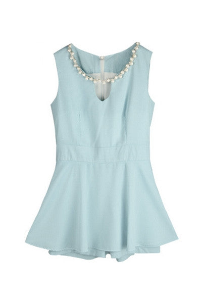 Pearly Peplum Playsuit