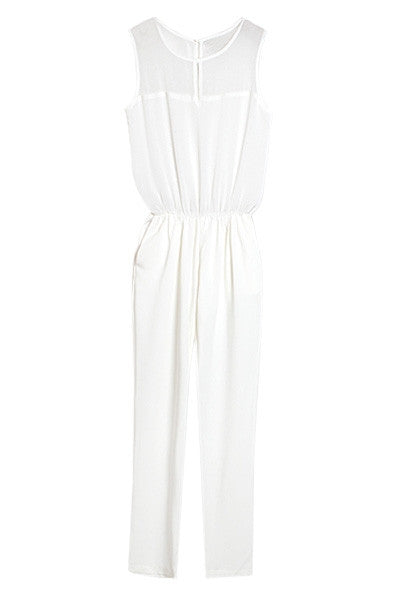 Sheer Panel Jumpsuit