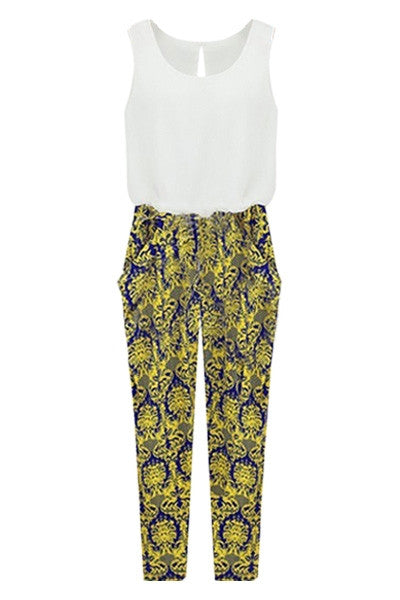 Damask Pant Jumpsuit