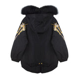 Black Fur Hooded Parka