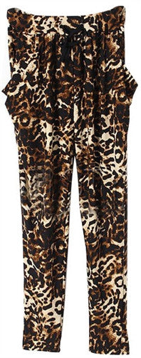 Leopard Print Pocket Trousers