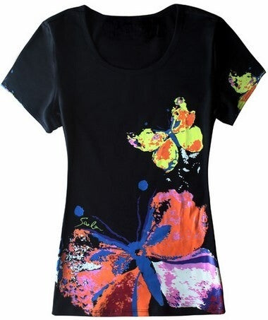 Butterfly Flutter By T-shirt