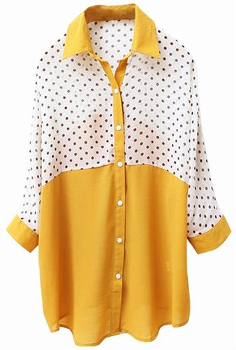 Sheer Dot Blouse