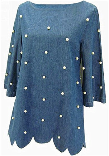 Denim and Pearls Dress