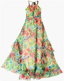 Print Halter Neck Dress