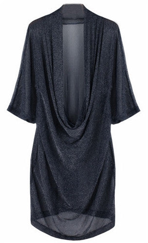 All that glitters cowl neck