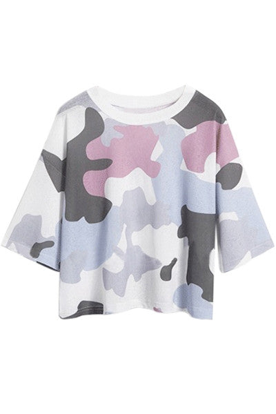 Colourful Cow Cropped Tee